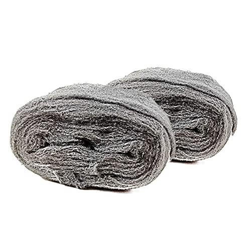 Vegena 2 Stück Stahlwolle, Schleifvliesrolle Körnung, Grade 0000 Stahl Wolle...