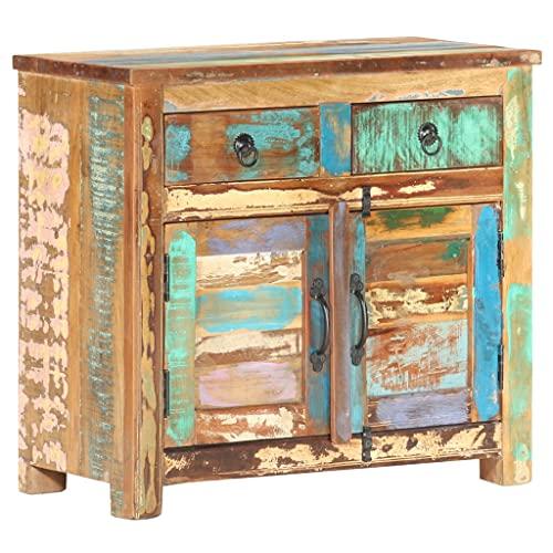 Sideboard 70x35x65 cm Recyceltes Massivholz,Mit 2 Türen und 2...
