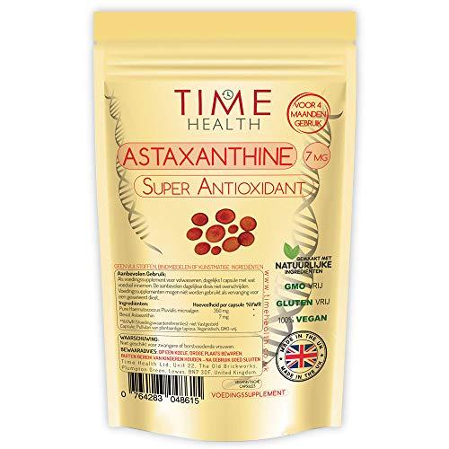 Astaxanthin - 7mg Optimal Dose - 120 Capsules - Super Antioxidant -...