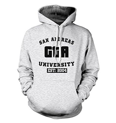 net-shirts San Andreas Hoodie Kapuzenpullover mit Aufdruck im College Style...
