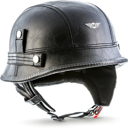 """Moto Helmets D33 """"Leather Black"""" · Brain-Cap · Halbschale Jet-Helm..."""