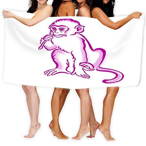 Yocmre Badetuch Adult Microfaser Handtuch Zoll Badetuch Cool Monkey Chimpanzee...