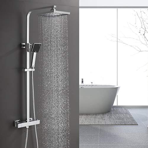 BONADE Duschsystem thermostat regendusche Duschset mit Brausethermostat- mit...