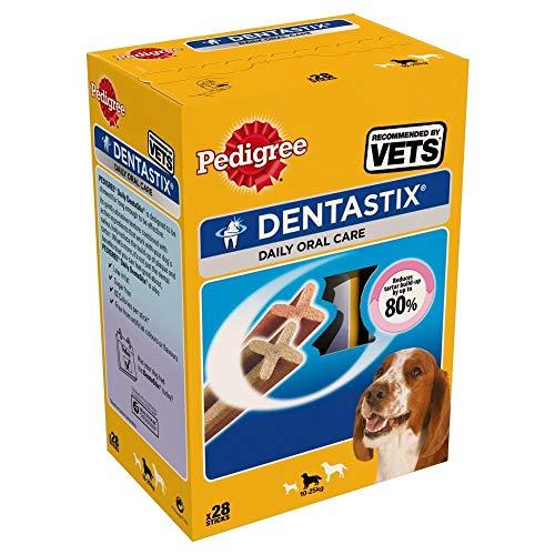 Pedigree Dentastix für Medium Hunde (4 x 28Stk/Packung) (Einheitsgröße) (kann...