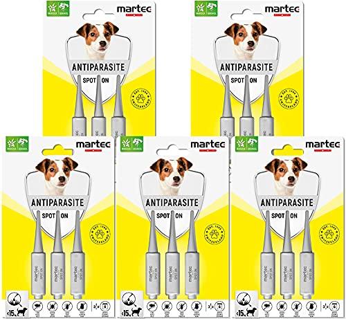 martec PET CARE Spot on Hund - unter 15 Kg - Parasitenabwehr auf pflanzlicher...