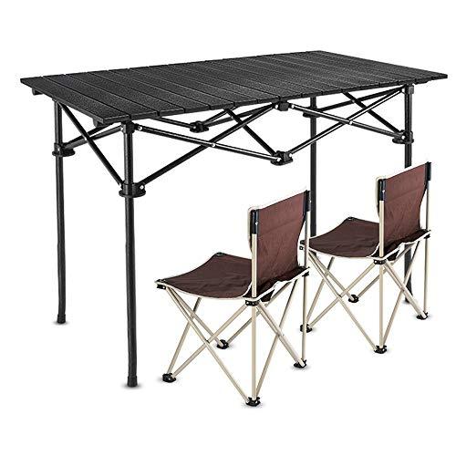 JCCOZ -T Klapptisch, groß, tragbar, Campingtisch mit Stühlen, robust, tragbar,...