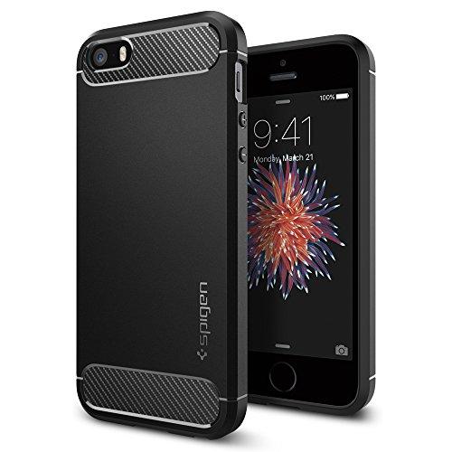 Spigen Rugged Armor Hülle Kompatibel mit iPhone SE, iPhone 5s und iPhone 5...