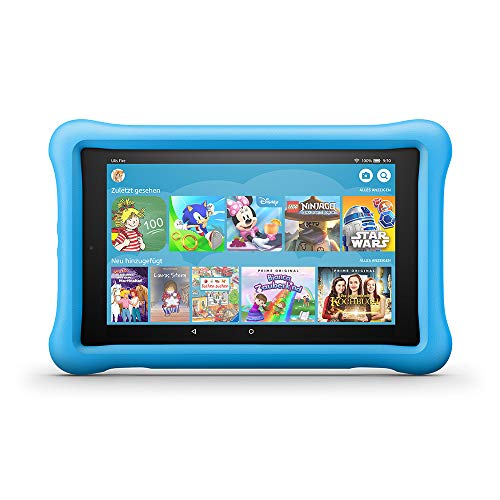 Fire HD 8 Kids Edition-Tablet, 8-Zoll-HD-Display, 32 GB, blaue kindgerechte...