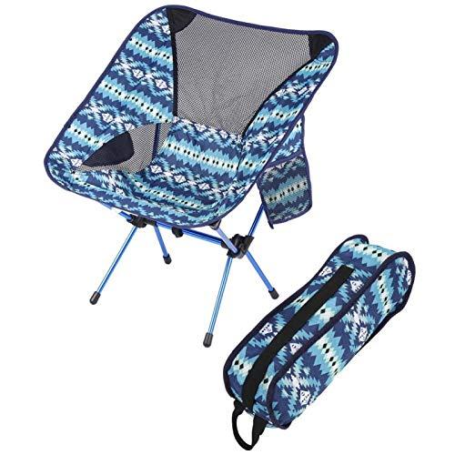 Pwshymi Rückenlehnenstuhl Klappbarer Rückenlehnen-Campingstuhl für Camping