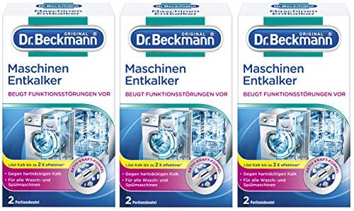 Dr. Beckmann Maschinen Entkalker   3er Pack   gegen hartnäckigen Kalk und beugt...