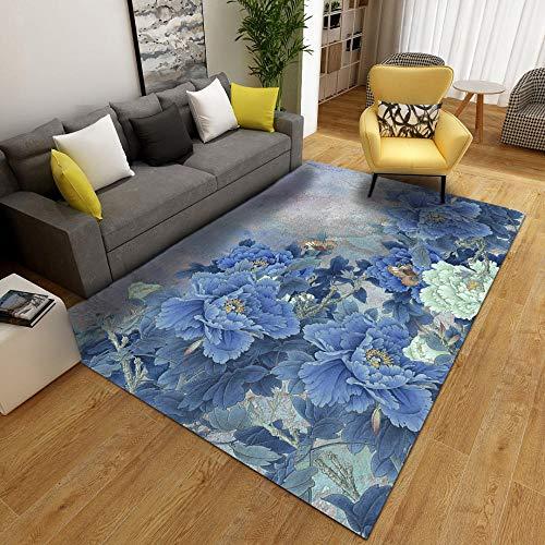 Vlejoy Nordische kreative einfache Teppich Wohnzimmer Kristall Samt blau grau...