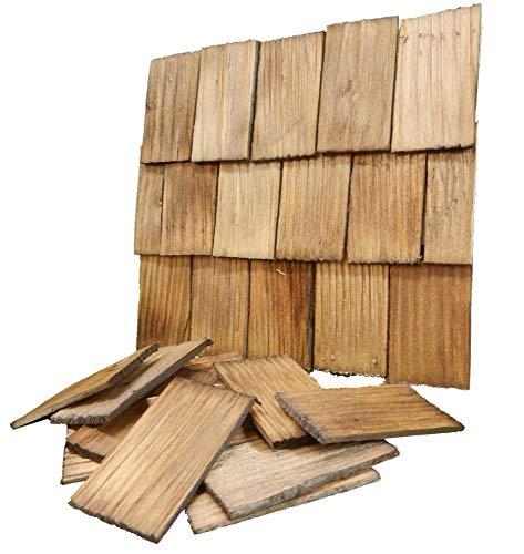 WeWi 200 Stück Dachschindel, handgeschlagen, nussbaumfarben 4x2,3x0,3cm -...