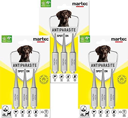 martec PET CARE Spot on Hunde ab 15 Kg - Parasitenabwehr auf pflanzlicher Basis...