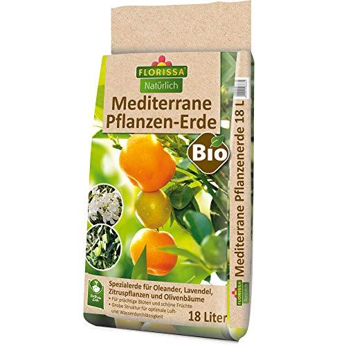 Florissa Natürlich 58686 Bio Erde (18 l)   torffrei   für Oleander, Lavendel,...