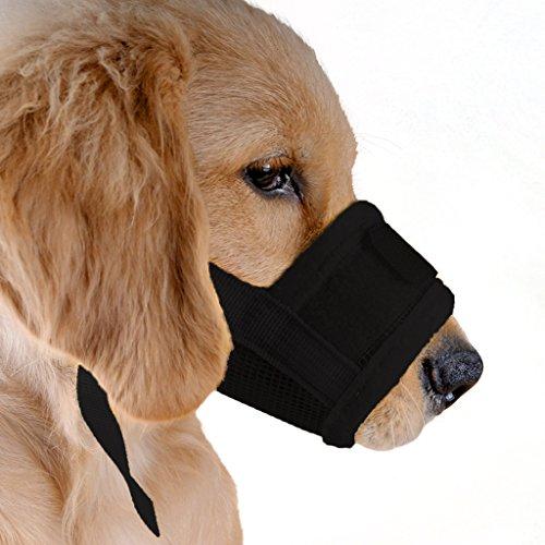 ubest Hund Maulkorb mit Klettverschluss, Gepolstert und Einstellbar Nylon, für...