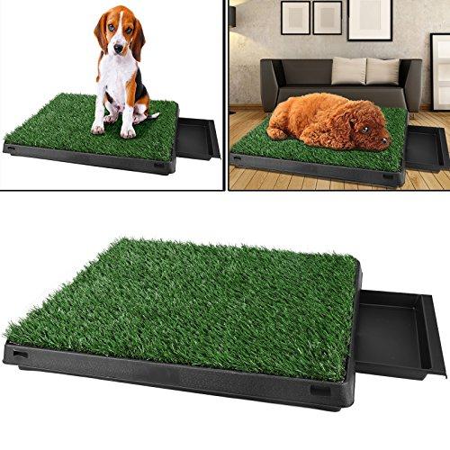 Befied Hundetoilette Welpentoilette mit Kunstrasen, Trainingsunterlage Indoor...