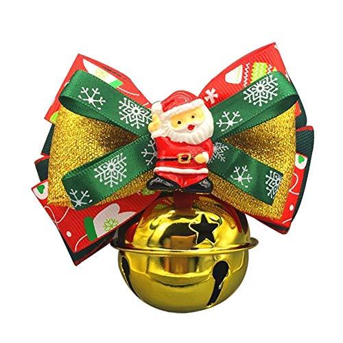 Mageelian Hundeglöckchen mit Weihnachtsschleife für Katzen und Hunde