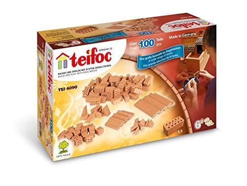 Teifoc TEI 4090 Steinbaukästen 4090-Bausteine, Multi Color, Gemischte Bausteine