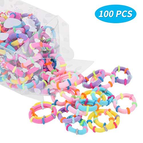 Kopfkette, Haargummis für Kinder Mädchen Baby Elastische Haarbänder 100...