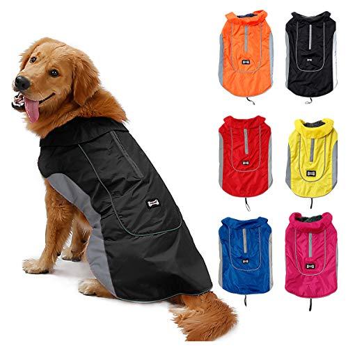 TFENG Reflektierend Hundejacke für Hunde, Wasserdicht Hundemantel Warm...