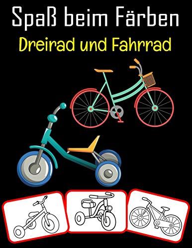 Spaß beim Färben Dreirad und Fahrrad: Dreirad- und Fahrradbilder, Mal- und...