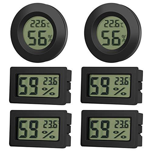 EEEKit 6 Pack Mini Hygrometer Thermometer Feuchtigkeitsmesser LCD Digitalanzeige...