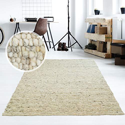 Taracarpet Moderner Handweb Teppich Alpina handgewebt aus Schurwolle für...