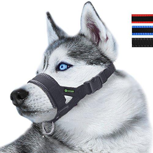 ILEPARK Maulkorb aus Nylon um Hunde vom Beisen, Bellen und Kauen abzuhalten,...
