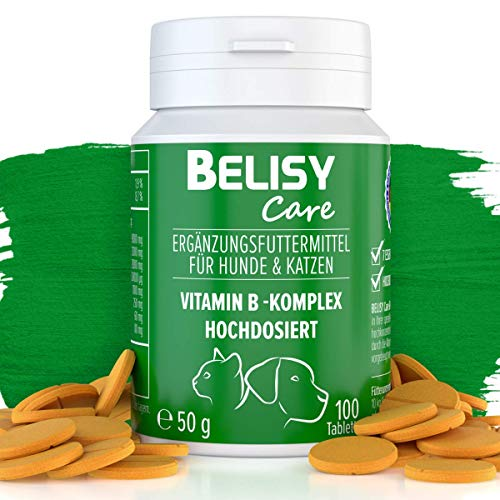 BELISY Vitamin B Komplex für Hunde & Katzen - 100 Tabletten - Mit 7...