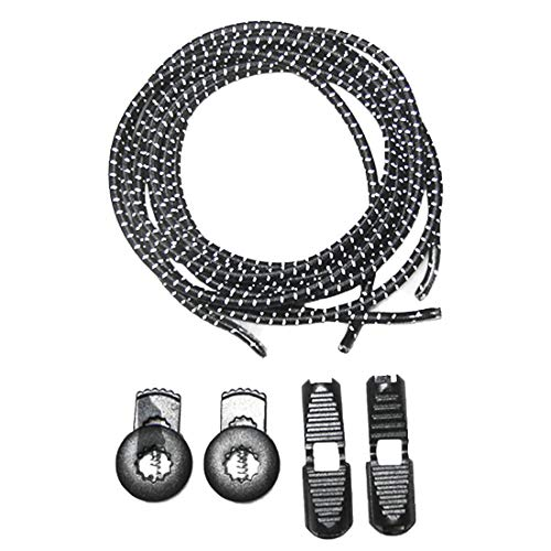 Demarkt 1 Paar Elastische Schnürsenkel - Gummi Schnellschnürsystem ohne Binden...