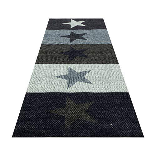 HOMEFACTO:RI Küchenläufer Küchenteppich Teppichläufer Brücke Sterne Stars  ...