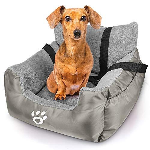 Hunde-Autositz für kleine Hunde oder Katzen, Haustier-Sitzerhöhung, Reisebett...