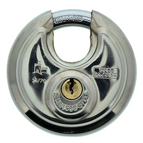 Burg-Wächter Rundbügelschloss, Vorhängeschloss mit Schlüssel, 10 mm...
