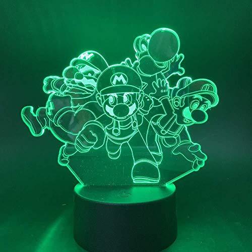 7 Farblampe 3D LED Visual LED Nachtlichter für Kinder Touch USB Tischlampe Baby...