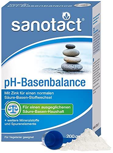 sanotact pH-Basenbalance Pulver • 200g Basenpulver zum Einnehmen •...
