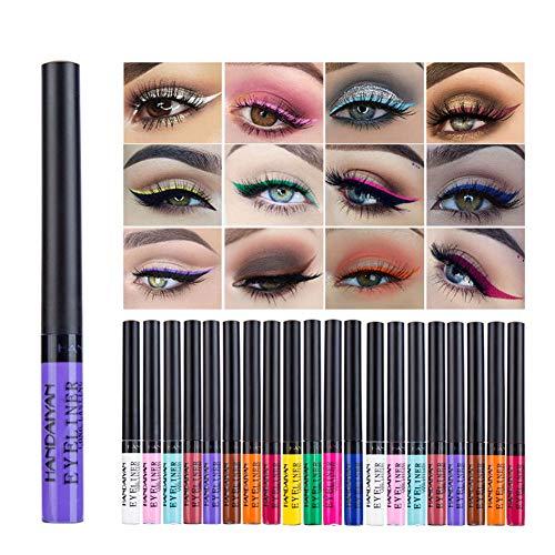 Lucoss 12 Farben Dauerhafter Glitter Eyeliner Für einfach zu tragendes...
