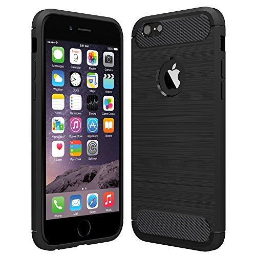 Anjoo Kompatibel für iPhone 6/6s Hülle, Carbon Fiber Texture-Inner Shock...