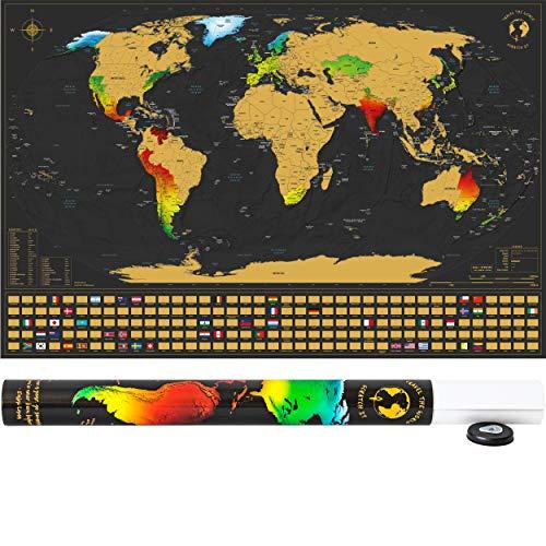 SCRATCH IT Weltkarte zum Rubbeln - Rubbel Landkarte - Poster XXL zum Freirubbeln...