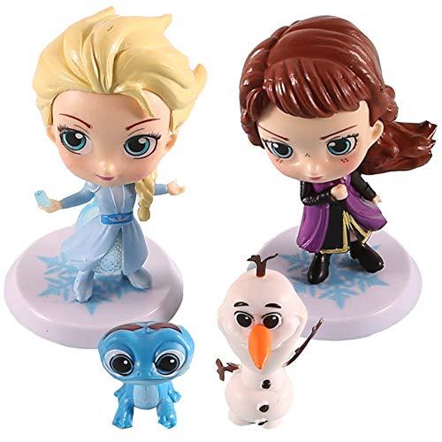 Eisprinzessin Mini Figuren Set, NALCY 4 Stück Schneeflocke Dekorationen, Kuchen...