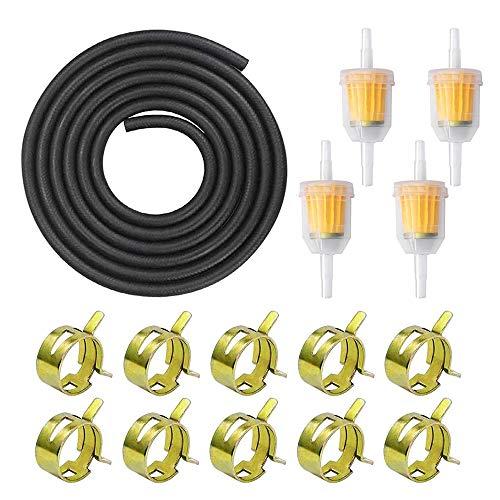 Benzinschlauch Kit, kraftstoffleitung,3 Meter Ø 5mm Kraftstoffleitung + 4 PCS...