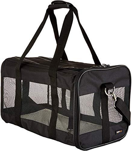 AmazonBasics Transporttasche für Haustiere, weiche Seitenteile, Schwarz,...