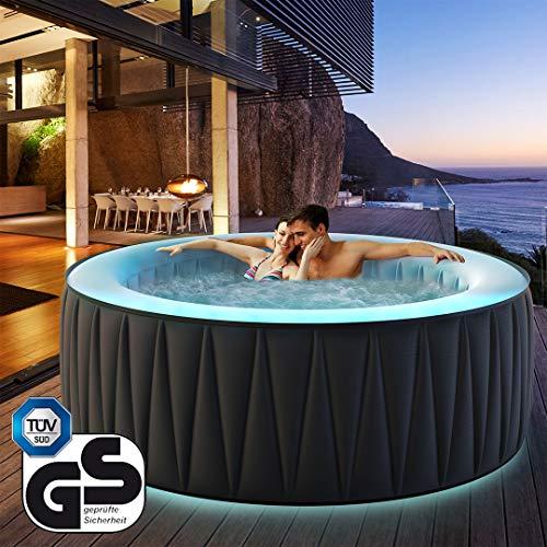Miweba MSpa aufblasbarer Whirlpool Aurora D-AU06 Outdoor - inkl. LED RGB - für...