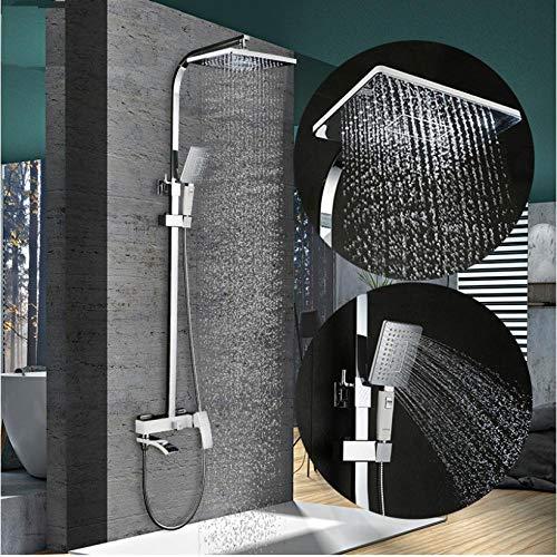 Zglizty Bad Dusche Wasserhahn Set Bronze Badewanne Wasserhahn Mischbatterie...