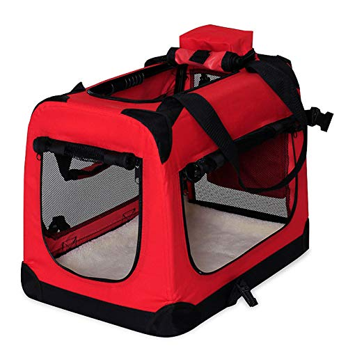 Hundetransportbox Hundetasche Hundebox faltbare Kleintiertasche Farbe Rot...