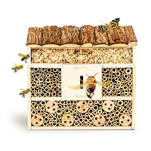 bambuswald Insektenhotel 29,5 x 10 x 28,5 cm | Bienenhotel Unterschlupf für...