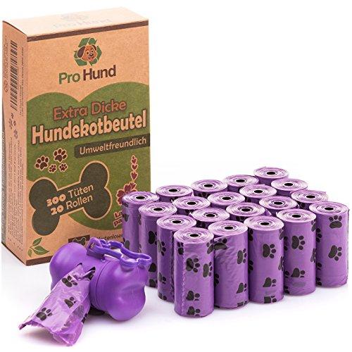 Pro Hund 300 Hundekotbeutel biologisch abbaubar mit Beutelspender und...