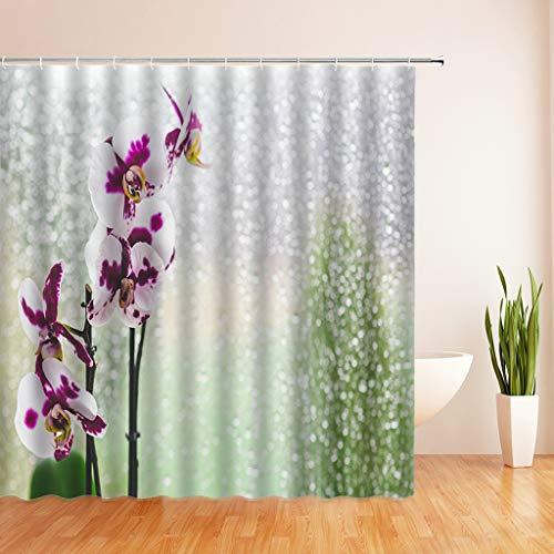N/X Duschvorhang 3D Fresh Flower Duschvorhang Badvorhänge Badezimmer...