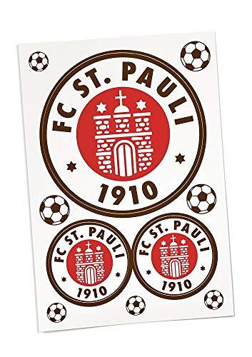 FC St. Pauli Aufkleber ** Logo ** 3er - Set