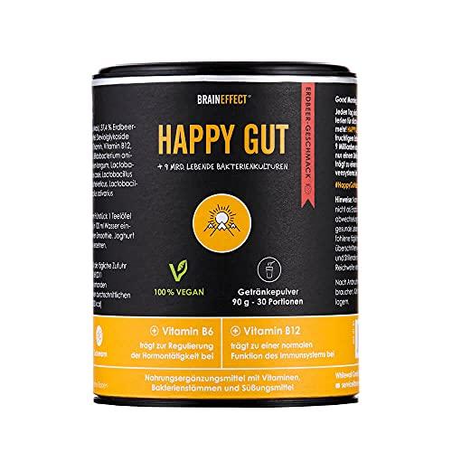 BRAINEFFECT HAPPY GUT + COACH APP - Fruchtiges Getränkepulver für ein gutes...
