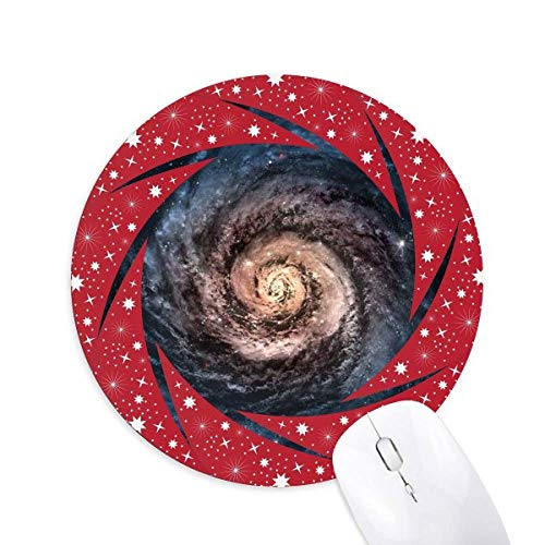Nebelobject name: Whirlpool Nebula Particles Patterns Wheel Mouse Pad Round Red...